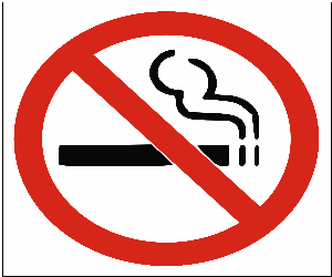 Ban on smoking in public