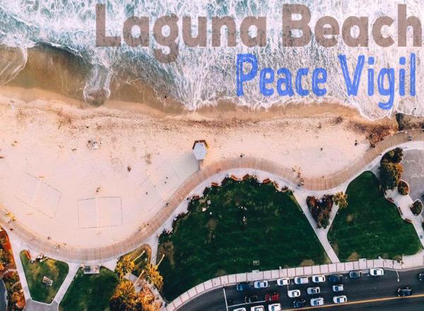Peace Vigil Main Beach Laguna Beach LagunaBeachCommunity.com