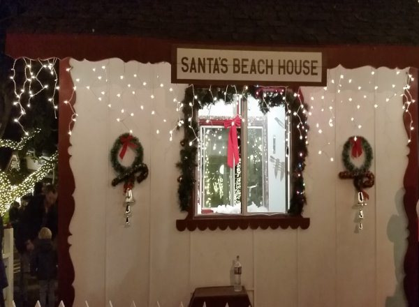 Laguna Beach Hospitality Night Downtown Laguna Beach California Santas Beach House Christmas Tree Lighting