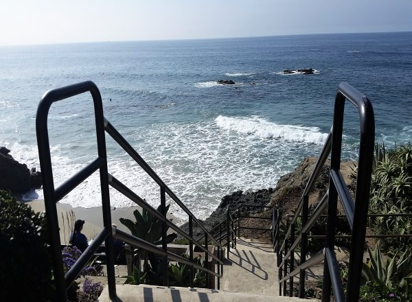 Stairs to Cress Street Beach Laguna Beach