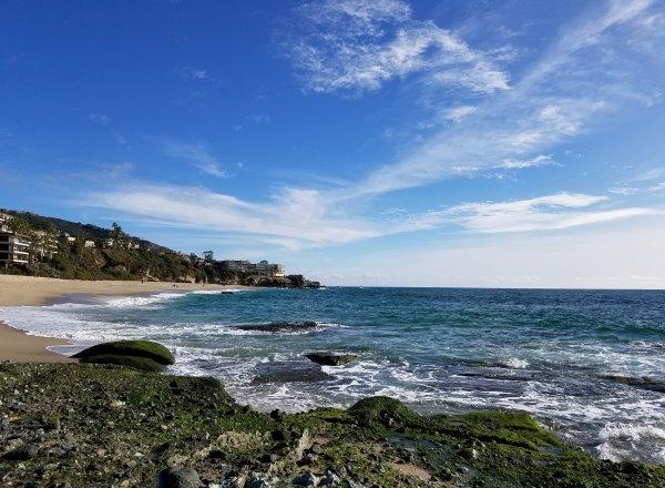 West Street Beach Laguna Beach water and sand