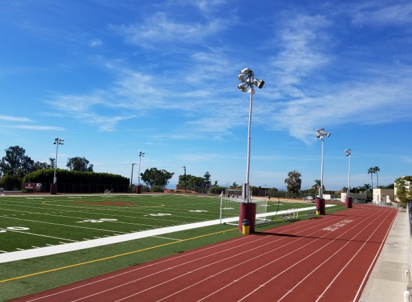 laguna beach high school track and football field laguna beach california orange county