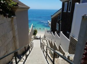 stairs descending to woods cove beach laguna beach ca