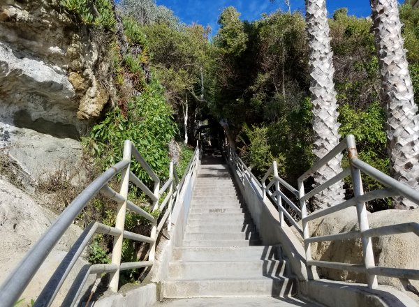 steps leading down to thousand steps beach in laguna beach