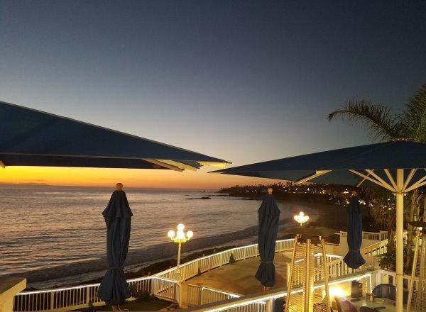 Village Area Laguna Beach Sunset View from The Cliff Restaurant