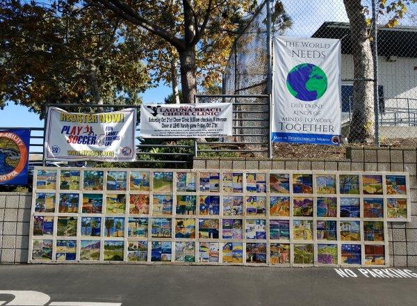 El Morro Elem School tile wall Laguna Beach California Orange County