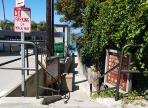 Entry Stairs to Sleepy Hollow Beach Laguna Beach Calfifornia