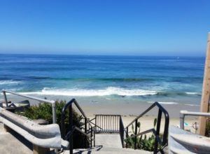Stairs descending down to St Anns Street Beach Laguna Beach California