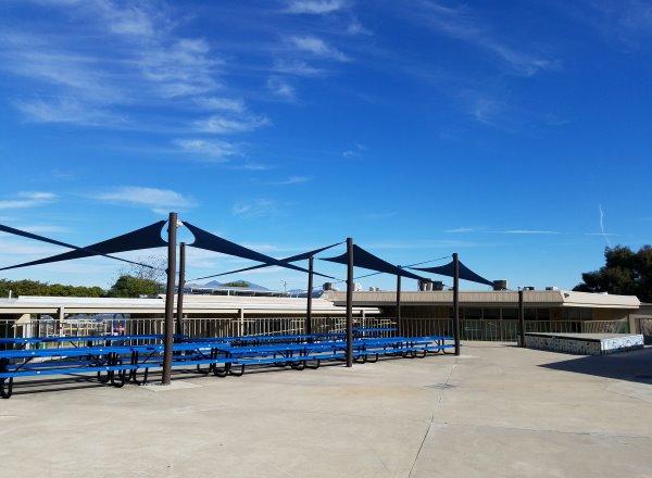 Top of the World Elementary School picnic tables Laguna Beach California Orange County Schools