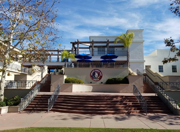 Laguna Beach High School front steps Laguna Beach California Orange County