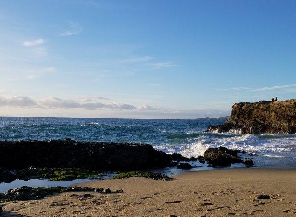 pacific ocean at table rock beach laguna beach ca